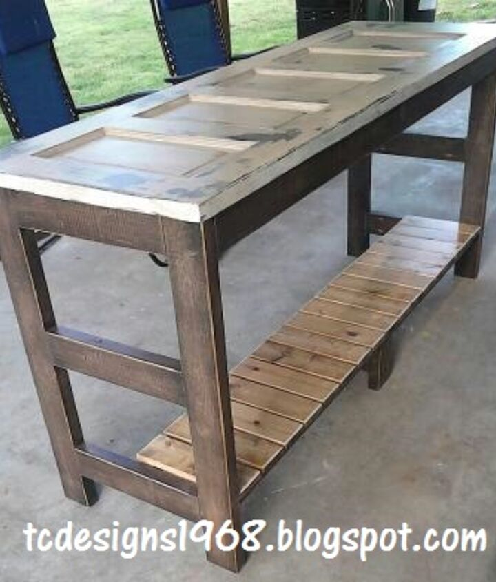 """My Kitchen Island Finished :) 1/4"""" Glass was added to the top of this for easy cleaning.... and a flat smooth surface to work on :)"""