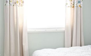 diy no sew drop cloth curtains, bedroom ideas, home decor, reupholster, window treatments, windows