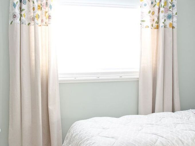 diy no sew drop cloth curtains, bedroom ideas, home decor, reupholster, window treatments, windows