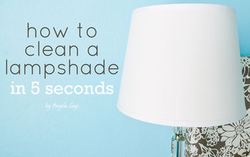how to clean a lampshade in 5 seconds, cleaning tips