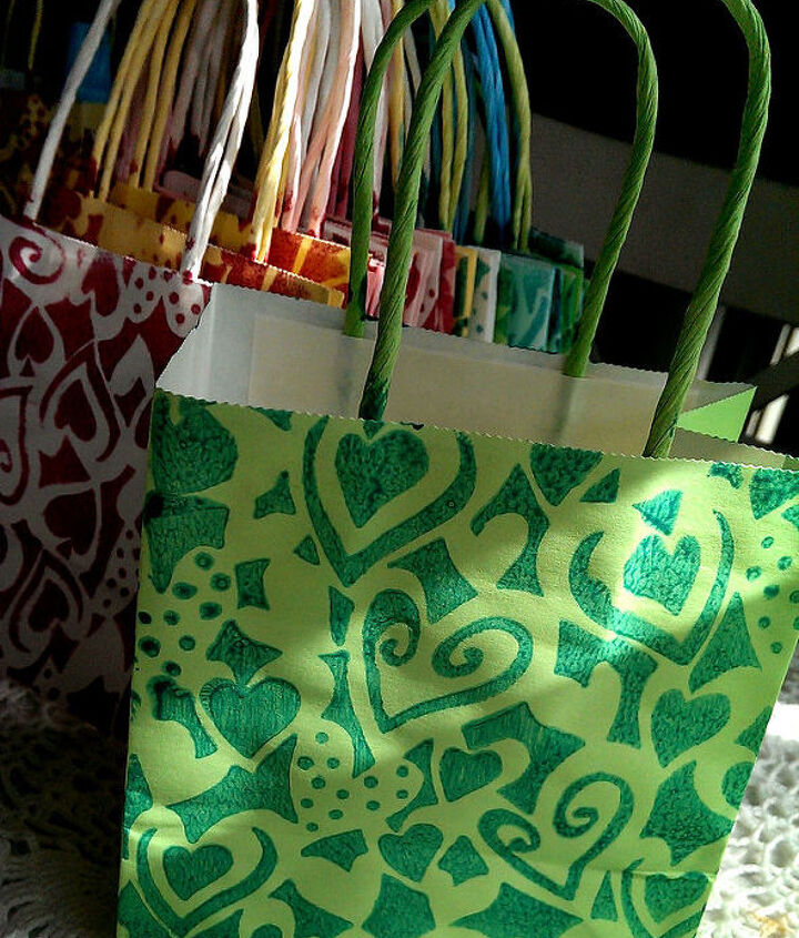 Funky printed, totally unique party bags
