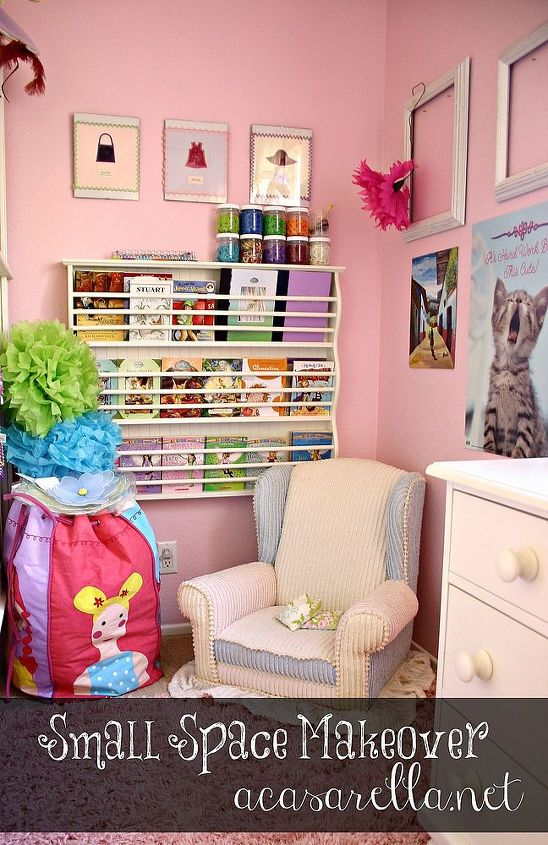 """Before the makeover, this tiny space behind the bunk bed was a """"reading corner."""""""