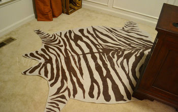 drop cloth zebra hide rug, crafts, home decor, Whats Ur Home Story Drop cloth Zebra Rug Complete Tutorial on the blog