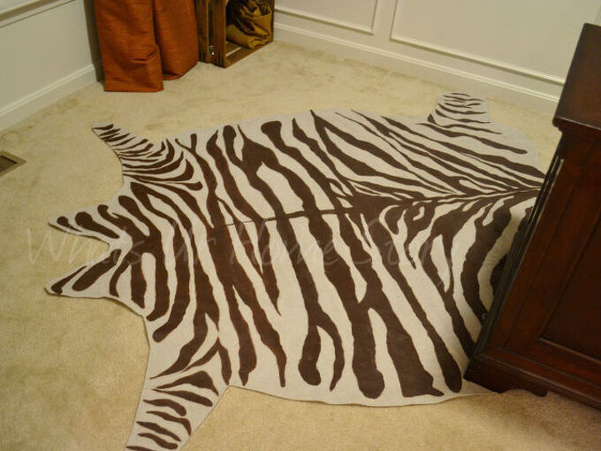 drop cloth zebra hide rug, crafts, home decor, Whats Ur Home Story Drop cloth Zebra Rug Complete Tutorial on the blog