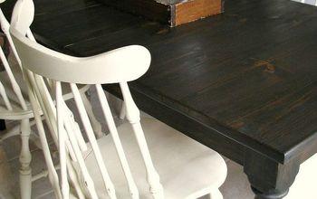 custom dark stained farm table, living room ideas, painted furniture