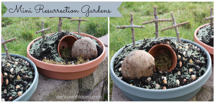 mini resurrection gardens for easter, gardening