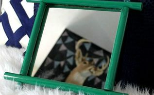 diy bamboo mirror trash to treasure, crafts, repurposing upcycling