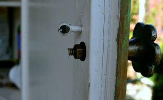 how to trim the screw posts on a drawer knob, windows