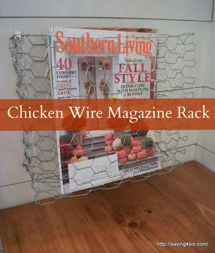 diy chicken wire baskets, crafts