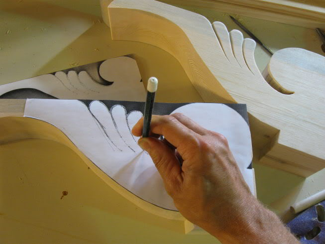 give your corbels some relief add depth to the silhouette of a floral corbel, woodworking projects