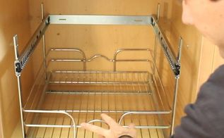 a proven system for kitchen cabinet organization, kitchen cabinets, kitchen design, organizing, Install the baskets