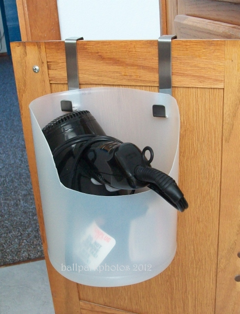 hair dryer caddy from a bleach bottle, bathroom ideas, cleaning tips, repurposing upcycling