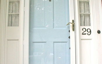 a whole new front door just add spray paint and paint, curb appeal, doors, painting