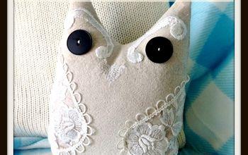 Drop Cloth Owl Pillow