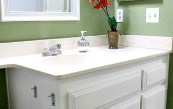 Repainting Bathroom Cabinets- Quick and EASY