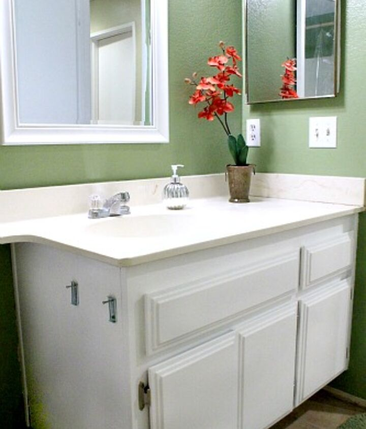 repainting bathroom cabinets quick and easy, bathroom ideas, cabinets, painting
