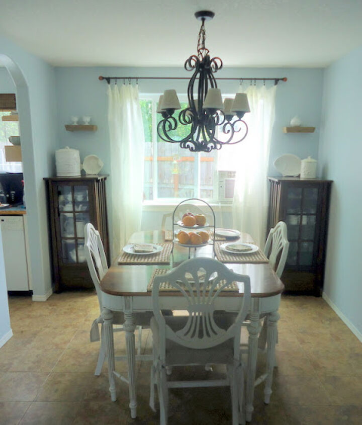 Dining Table and Chairs after complete makeover