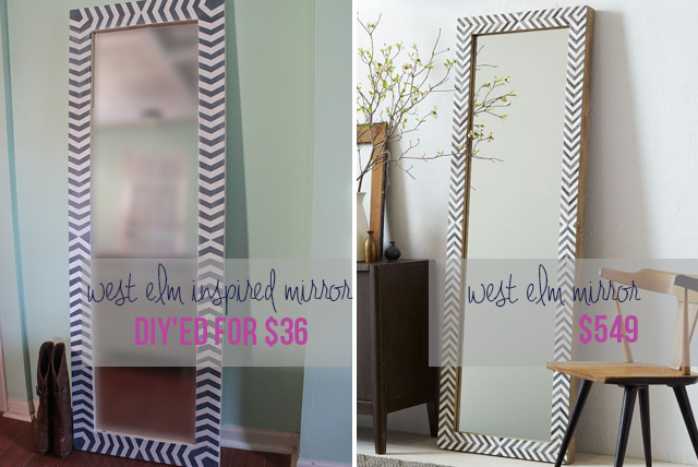 DIY West Elm Inspired Floor Mirror | Hometalk