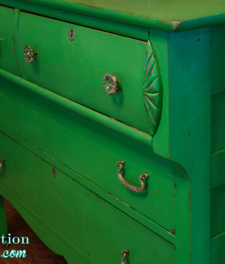 green vintage chalkpainted dresser, chalk paint, painted furniture