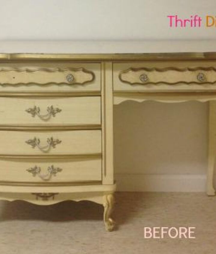 Ugly, dirty, but I saw its potential. For $12, it would have been a sin to walk away :) The top drawer was missing a knob.