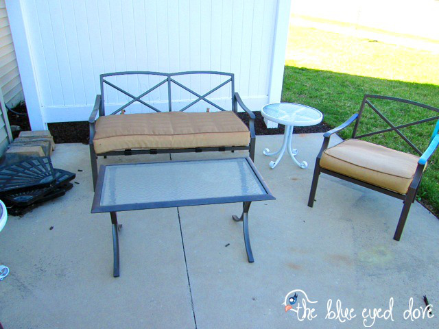 patio furniture update, outdoor furniture, outdoor living, painted furniture, patio
