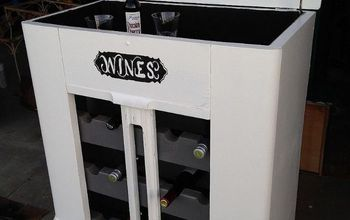 Comvert an Old Radio Cabinet Into a Wine Cabinet