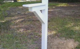 build a new mailbox post, curb appeal, diy, woodworking projects, After painting