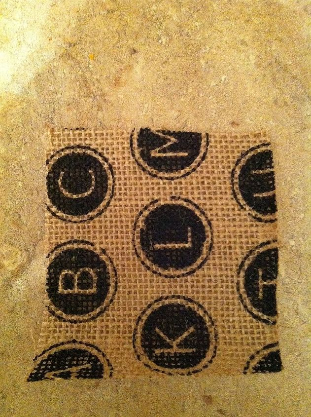 Fold your burlap into 4 x 4 inch squares.