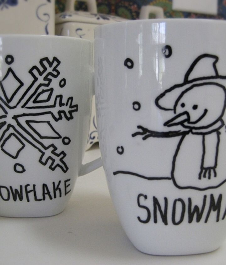 5. Trace over the design with an oil-based Sharpie, let dry 24 hours then bake. See my blog for all the details here: http://confessionsofaplateaddict.blogspot.com/2014/01/creating-cozy-homediy-sharpie-mugs.html