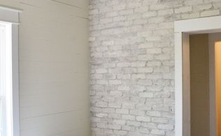 white washing a brick wall, paint colors, painting, wall decor