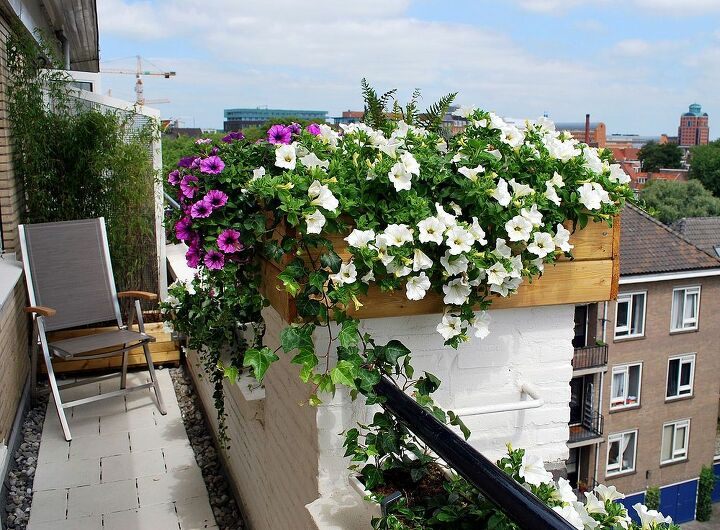 Balconygarden after a complete facelift.