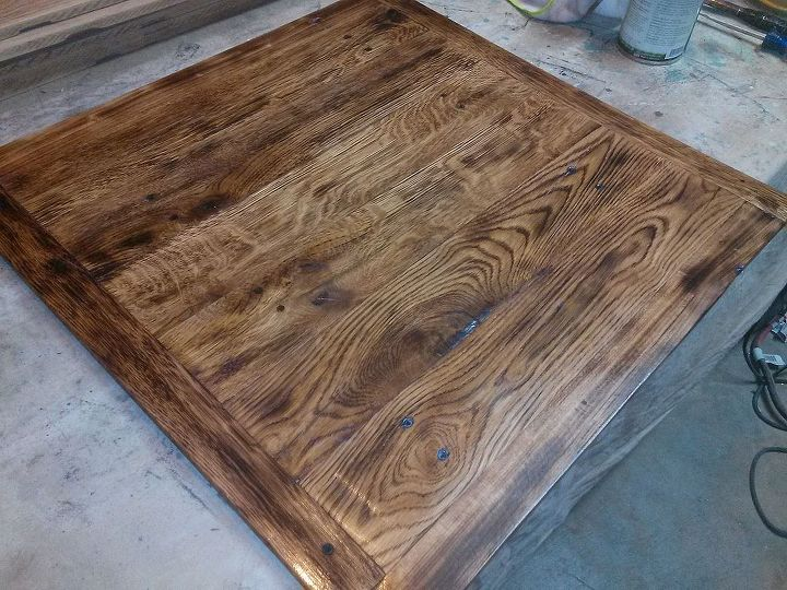Torched Table Top Painted Furniture Repurposing Upcycling Woodworking Projects Ok I Decided