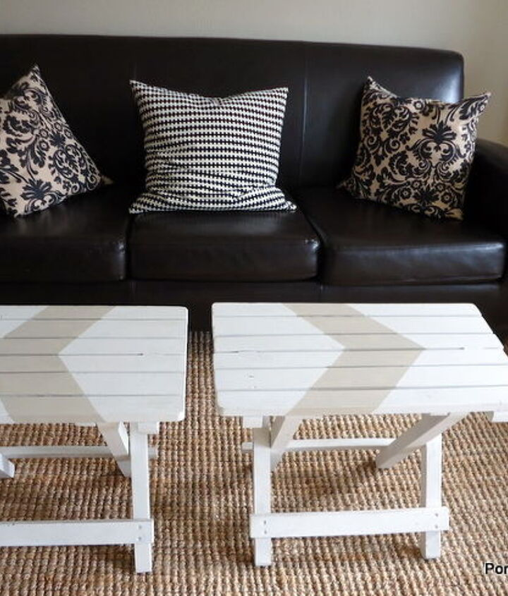 Pull them apart to use as tv trays or for laptops...easily folded up and put out of the way to create more room.
