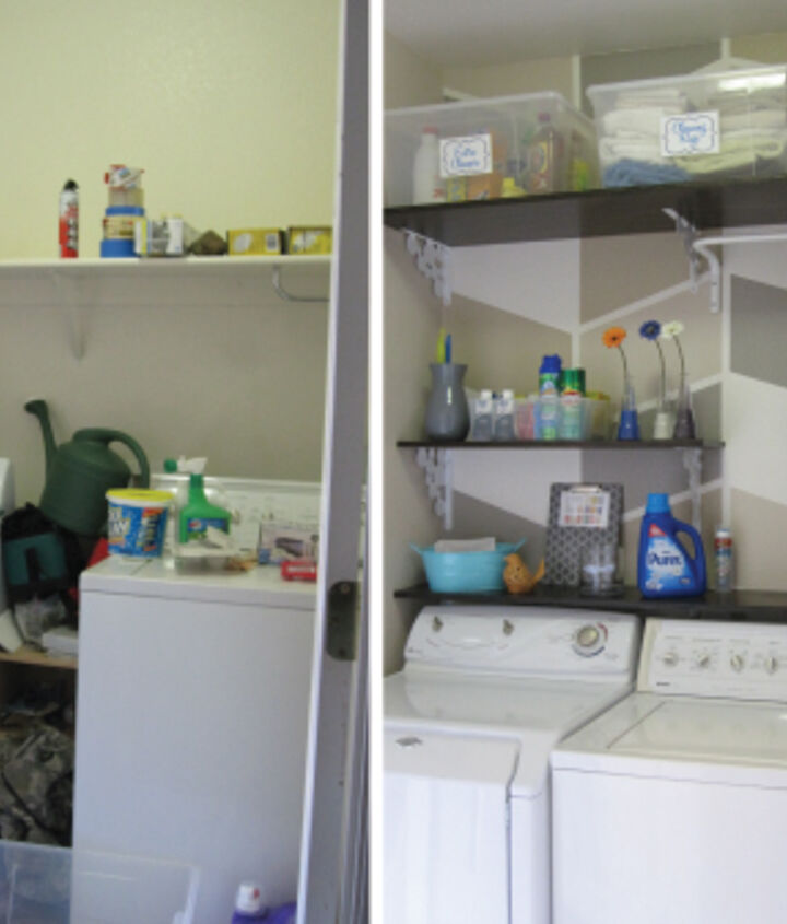 Before & After of $124 Laundry Room Overhaul