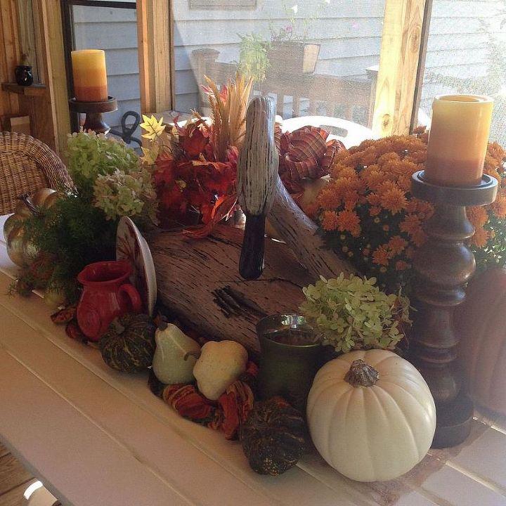 fall table centerpiece, seasonal holiday decor