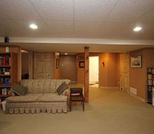 q best flooring for basement, basement ideas, flooring, Before Realtor photos This carpet doesn t look too bad but it s actually a green carpet and is faded to beige