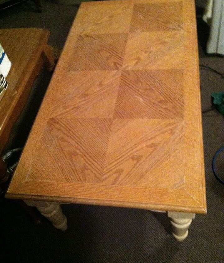 top of table before