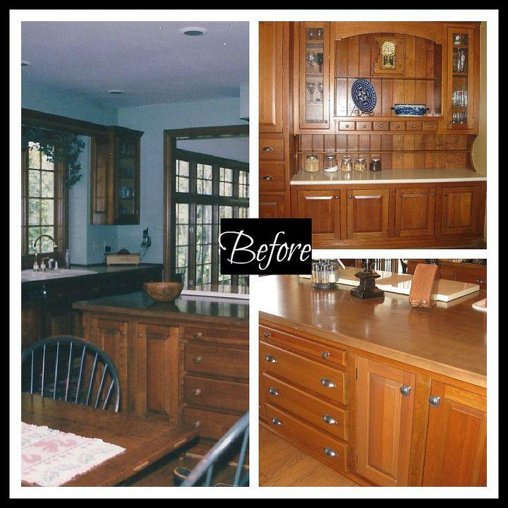 our kitchen makeover, kitchen design, kitchen island, painting, The kitchen was very orange before