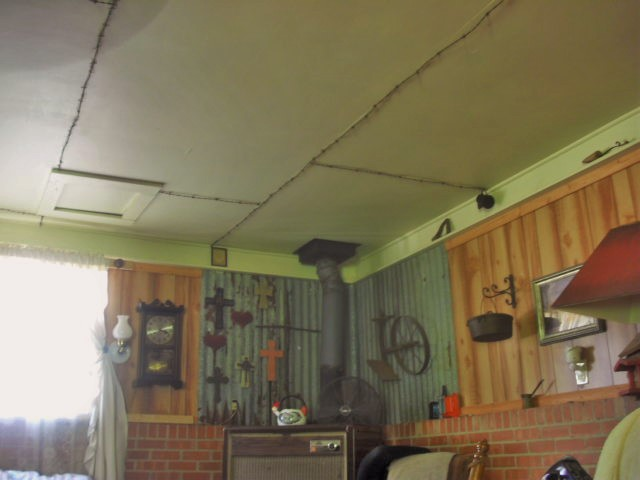 C.H.E.A.P Way to Cover 4x8 Ceiling Seams. | Hometalk on outdoor room ideas, carport designs, basement bedroom ideas, garage shelving ideas, car port design ideas, carport kits, garage lighting ideas, garage insulation ideas, wooden ceilings ideas, small screen porch decorating ideas, garage wall material ideas, carport plans product,