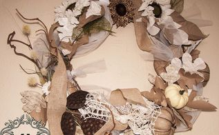 an all natural wreath, crafts, seasonal holiday decor, wreaths, I m in love with the all naturals and subdued fall colors I think the bright colors get a little overwhelming at times