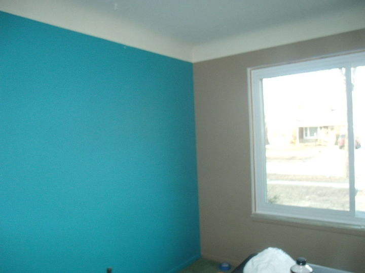 q need help with selecting carpet and curtains, home decor, living room ideas, reupholster, window treatments, windows, accent wall all other walls are taupe as shown on the right