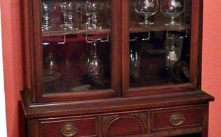 china cabinet turned wine cabinet, painted furniture, repurposing upcycling