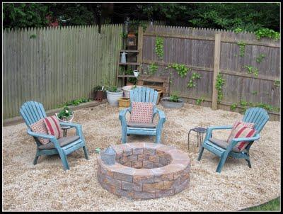 diy fire pit, concrete masonry, outdoor living