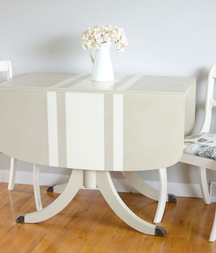 The table could also be used in a breakfast nook with just two chairs.