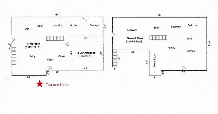 Here's a layout of our home...