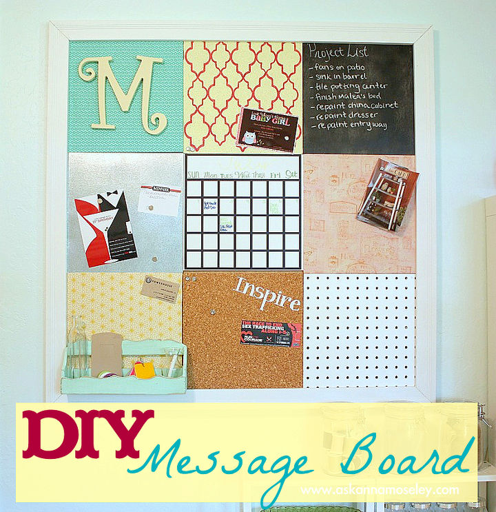 diy message board, cleaning tips, crafts, The message board I created for my home office