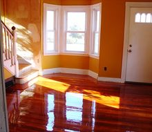 small colonial reno, diy, flooring, home decor, home improvement, how to, kitchen design, living room ideas, Gorgeous shiny floors