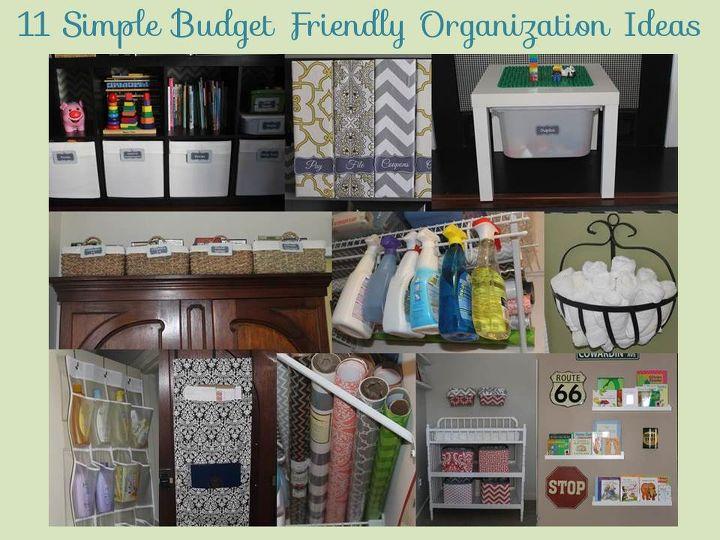 11 simple budget friendly organization ideas, organizing