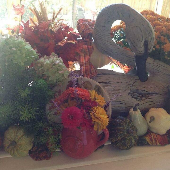 fall table centerpiece, seasonal holiday d cor