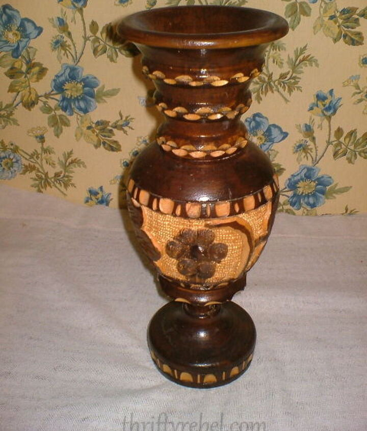 Wooden Vase Before